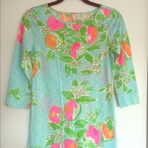 Lilly Pulitzer Cotton 3/4 Sleeve T Shirt Dress S